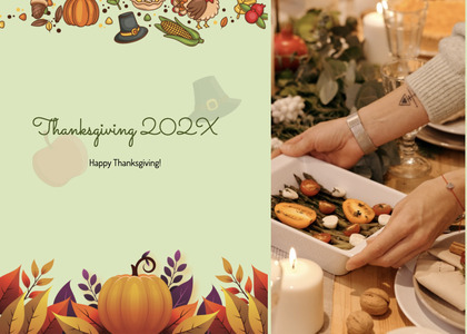 thanksgiving card 199 person human