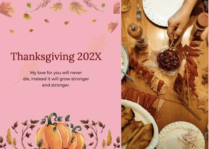 thanksgiving card 200 poster advertisement