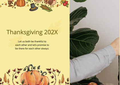 thanksgiving card 201 plant person