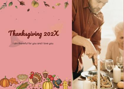 thanksgiving card 202 person human