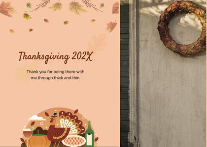 thanksgiving card 205 plant menu