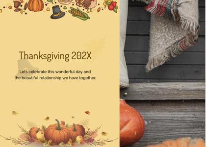 thanksgiving card 207 plant pumpkin
