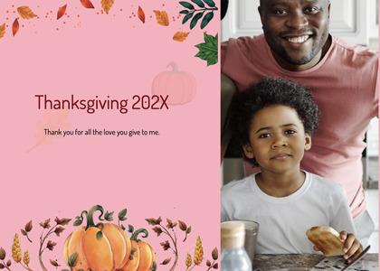 thanksgiving card 215 person human