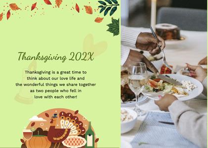 thanksgiving card 217 flyer advertisement