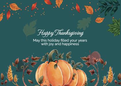 thanksgiving card 218 plant pumpkin