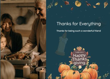 thanksgiving card 22 person plant