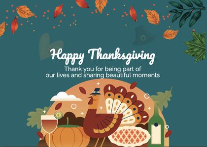 thanksgiving card 220 poster advertisement