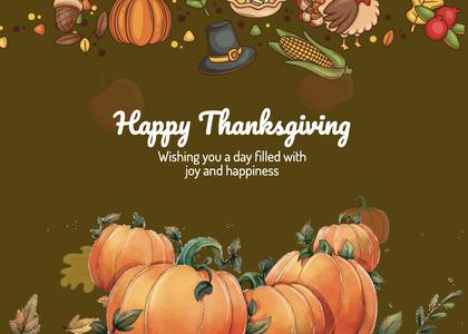 thanksgiving card 222 plant pumpkin