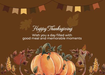 thanksgiving card 223 plant pumpkin