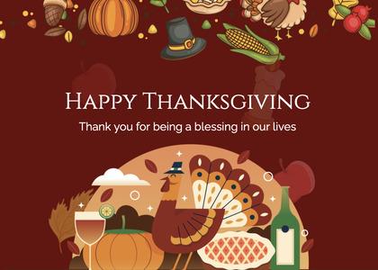 thanksgiving card 225 poster advertisement