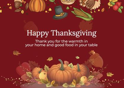 thanksgiving card 226 envelope mail