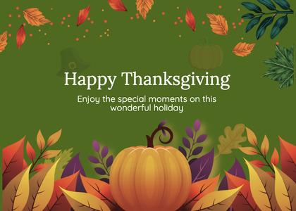 thanksgiving card 227 plant pumpkin