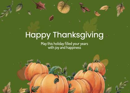 thanksgiving card 228 plant pumpkin