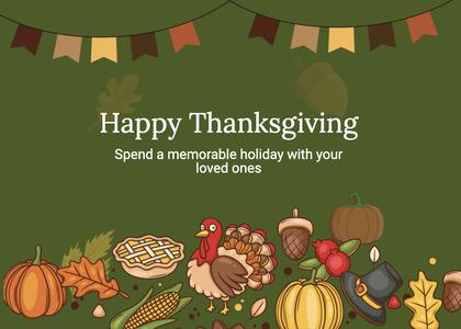 thanksgiving card 229 plant animal