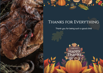 thanksgiving card 23 animal poster