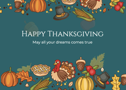 thanksgiving card 230 advertisement poster