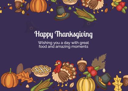 thanksgiving card 233 advertisement flyer