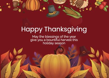 thanksgiving card 234 poster advertisement