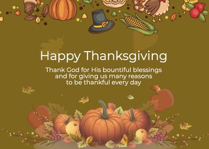 thanksgiving card 235 plant flyer