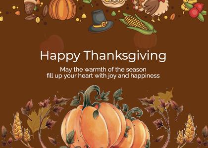 thanksgiving card 237 poster advertisement