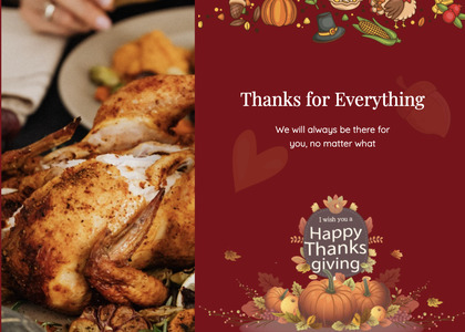 thanksgiving card 24 dinner food