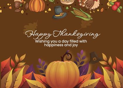 thanksgiving card 242 mail envelope