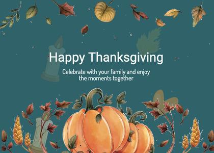 thanksgiving card 243 plant pumpkin