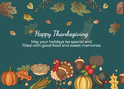 thanksgiving card 245 greeting card envelope