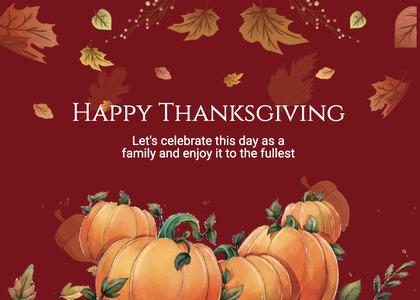 thanksgiving card 249 plant pumpkin