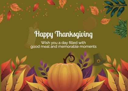 thanksgiving card 251 halloween paper