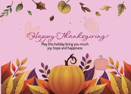 thanksgiving card 252 bird animal