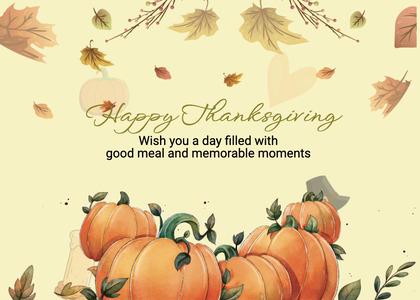 thanksgiving card 254 plant pumpkin