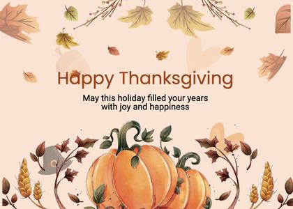 thanksgiving card 256 plant label