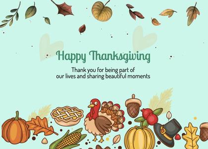 thanksgiving card 258 animal bird