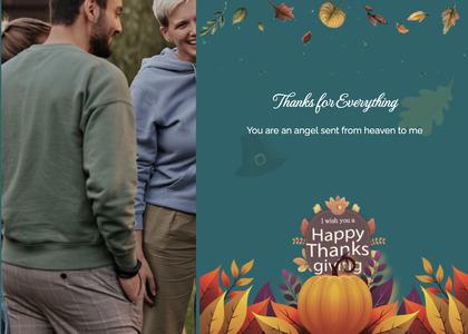thanksgiving card 26 person human