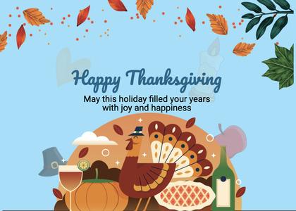 thanksgiving card 261 poster advertisement