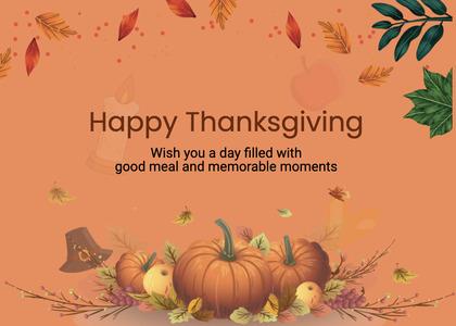 thanksgiving card 262 plant pumpkin