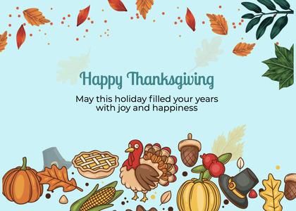 thanksgiving card 263 animal fish
