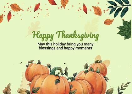 thanksgiving card 264 plant pumpkin