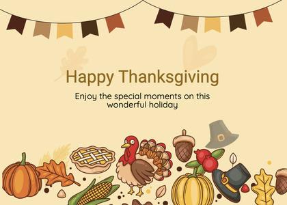 thanksgiving card 265 poster advertisement