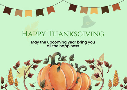 thanksgiving card 266 plant poster