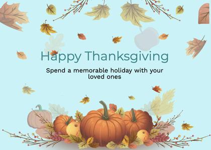 thanksgiving card 267 plant pumpkin