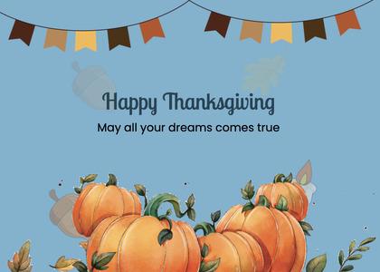 thanksgiving card 268 pumpkin plant