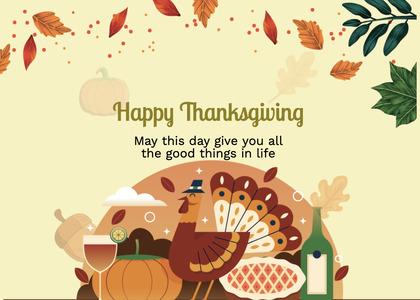 thanksgiving card 269 poster advertisement