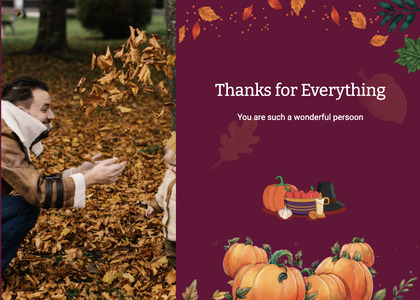 thanksgiving card 27 person plant
