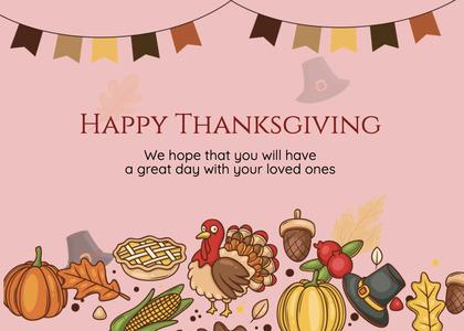 thanksgiving card 270 poster advertisement