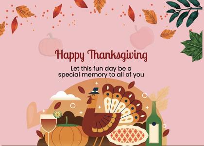 thanksgiving card 271 advertisement poster