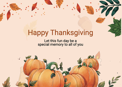 thanksgiving card 272 plant pumpkin