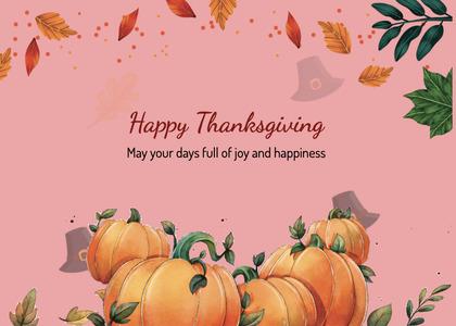 thanksgiving card 273 pumpkin plant