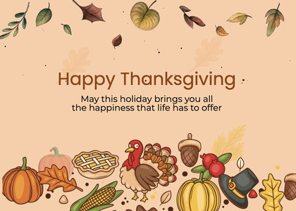 thanksgiving card 274 bird animal